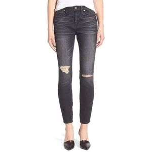 """Madewell 9"""" High Riser Skinny Jeans  Distressed"""